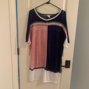 Free People Block Color Tunic